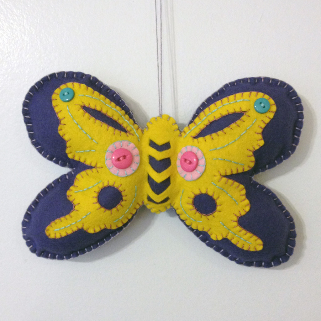Felt ornament – butterfly