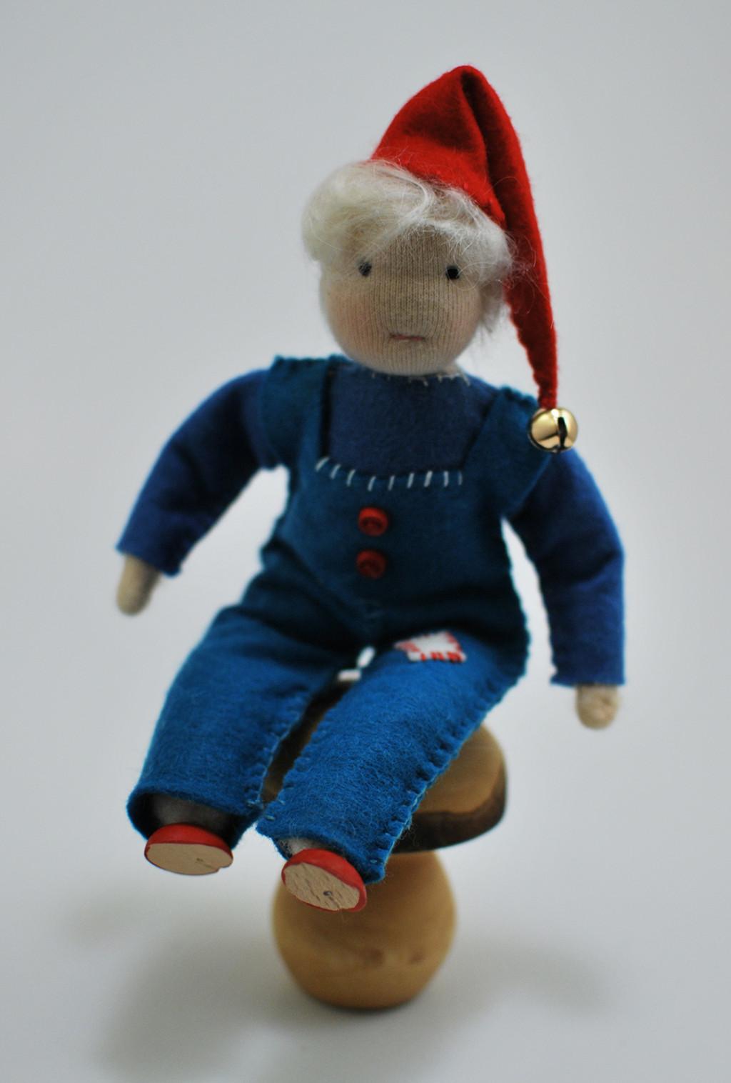 Waldorf-doll-inspired Elf