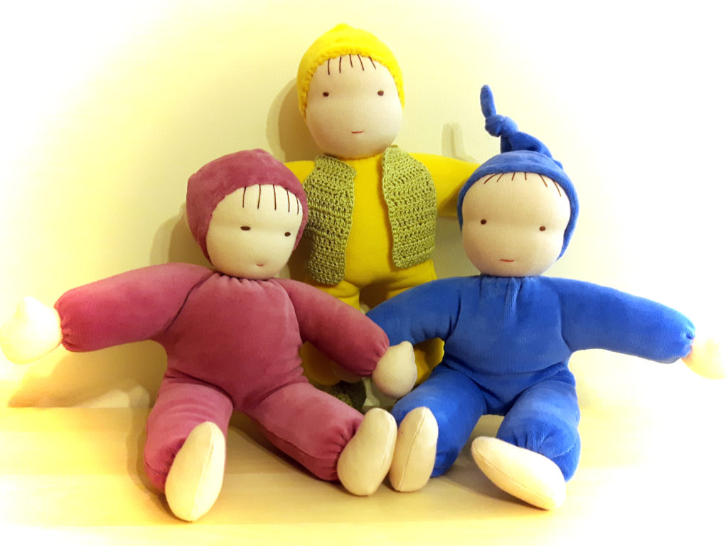 Doll making lessons in Toronto – Velour cotton Waldorf baby dolls