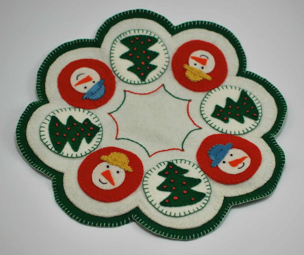 Another Christmas penny rug